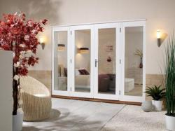 NUVU 2400mm (8ft) - 1500mm Patio Doors + 2 x 450mm Sidelights : 44mm Fully Finished Doorsets Image