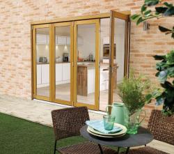 NUVU 3000mm (10ft) OAK Bifold Doors: 44mm Pre Finished Doorset Image