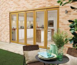 NUVU 3600mm (12ft) OAK Bifold doors: 44mm Pre Finished Doorset Image