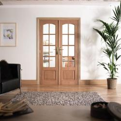 W4 Hardwood Interior French Door: Interior Room Divider door system Image