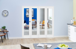 Slimline White Bifold 4 door system ( 4 x 419mm Doors ),  Image