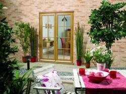 OAK French Doors - NUVU 8 Lite, Exterior French Patio Doors Image
