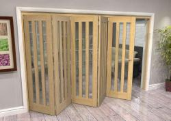 Aston Oak - 5 door Roomfold Deluxe (5 x 686mm doors),  Image