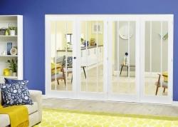 Lincoln White Roomfold Deluxe ( 4 x 610mm doors),  Image
