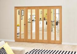 Aston Oak - 4 door Roomfold Deluxe (4 x 610mm doors),  Image