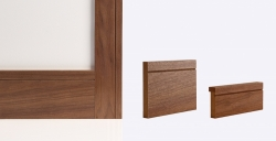 Walnut Shaker Skirting Board 147mm x 16mm x 3600mm: Solid FSC Certified MDF core Image