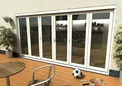 Climadoor Classic White Folding door 4200mm: 54mm fully finished Bi fold doorset Image