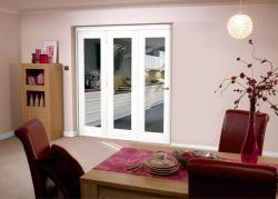 White Bifold 3 Door System 1800mm Set,  Image