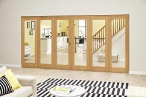 Prefinished P10 Oak Roomfold Deluxe (3 + 3 x 610mm doors),  Image
