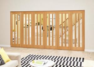 Aston Oak - 6 door Roomfold Deluxe (3 + 3 x 686mm doors),  Image