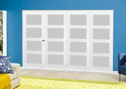 White 4L Frosted Roomfold Deluxe ( 4 x 610mm doors ),  Image