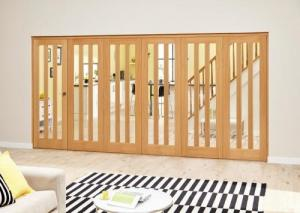 Aston Oak - 6 door Roomfold Deluxe (5 + 1 x 686mm doors),  Image