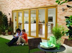 NUVU 4800mm (16ft) OAK Bifold doors,  Image