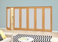 Prefinished Frosted P10 Oak Roomfold Deluxe (5 + 1 x 610mm doors),  Image