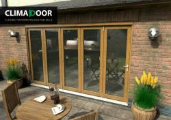 ClimaDoor 3600mm (12ft) Solid OAK Sliding Folding door,  Image