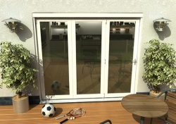 Climadoor Classic White Folding door 2400mm: 54mm fully finished Bi fold doorset Image