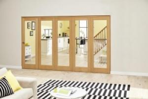 Prefinished P10 Oak Roomfold Deluxe (5 x 762mm doors),  Image