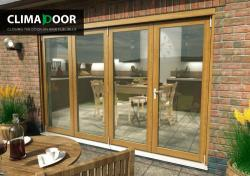 ClimaDoor 3000mm (10ft) Solid OAK Sliding Folding doors,  Image