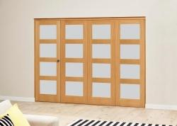 Frosted Pre finished 4L Roomfold Deluxe (4 x 610mmmm doors),  Image