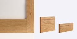 Shaker Skirting Board 147mm x 16mm x 3600mm: Solid FSC certified finger jointed oak core Image