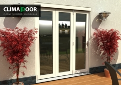 Climadoor Classic White Folding door 2100mm: 54mm fully finished Bi fold doorset Image