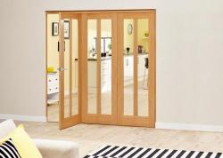 Aston Oak - 3 door Roomfold Deluxe (3 x 610mm doors ),  Image