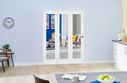 Slimline White Bifold 3 door system ( 3 x 419mm Doors ),  Image