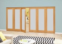 Prefinished Frosted P10 Oak Roomfold Deluxe (3 + 3 x 610mm doors),  Image