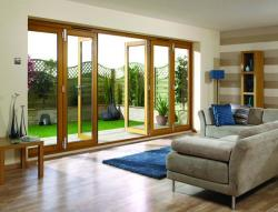 NUVU 4800mm (16ft) OAK Bifold Doors: 44mm Pre Finished Doorset Image