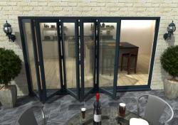 3600mm Grey Aluminium Bifold Doors - CLIMADOOR: 70mm Thermally Broken, Double Glazed Door Set Image