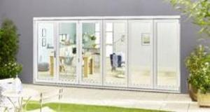 Climadoor SELECT 4200mm (14ft) Bifold Door: 54mm White primed finish External Doorset Image