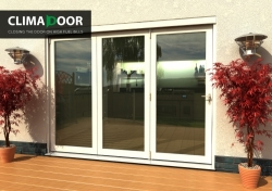 Climadoor Classic White Folding door 2700mm: 54mm fully finished Bi fold doorset Image