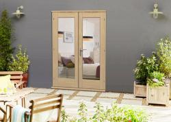 Elite Oak Un-finished French Doors - CLIMADOOR, Exterior French Patio Doors Image