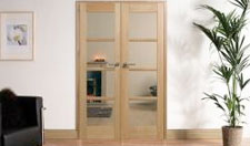 OAK OSLO W4 : Internal Room divider with sidelight options Image