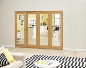 Prefinished P10 Oak Roomfold Deluxe (4 x 762mm doors),  Image