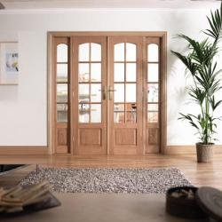 W6 Hardwood Interior French Door: Interior Room Divider door system Image