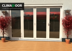 Climadoor Classic White Folding door 3000mm: 54mm fully finished Bi fold doorset Image
