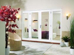 NUVU 3000mm (10ft)  - 1800mm Patio Doors + 2 x 600mm Sidelights: 44mm Fully Finished Doorsets Image