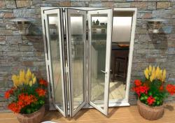 1800mm White Aluminium Bifold Doors - CLIMADOOR: 70mm Thermally Broken, Double Glazed Door Set Image