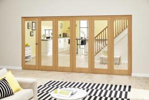 Prefinished P10 Oak Roomfold Deluxe (5 + 1 x 610mm doors),  Image