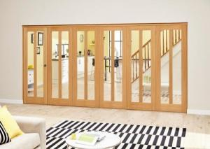 Aston Oak - 6 door Roomfold Deluxe (5 + 1 x 610mm doors),  Image
