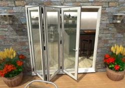 2100mm White Aluminium Bifold Doors - CLIMADOOR: 70mm Thermally Broken, Double Glazed Door Set Image