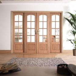 W8 Hardwood Interior French Door: Interior Room Divider door system Image
