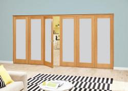 Frosted P10 Oak Roomfold Deluxe (3 + 3 x 686mm doors),  Image