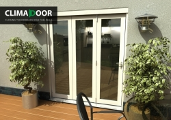 Climadoor Classic White Folding door 1800mm: 54mm fully finished Bi fold doorset Image
