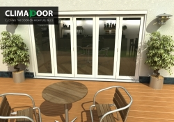 Climadoor Classic White Folding door 3600mm: 54mm fully finished Bi fold doorset Image