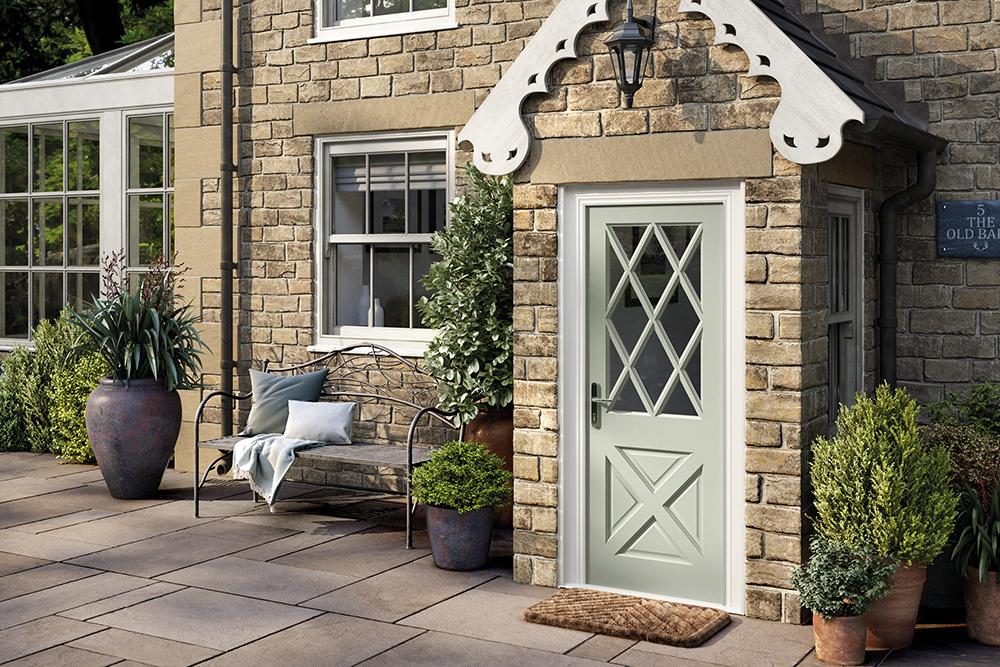 external glazed front door