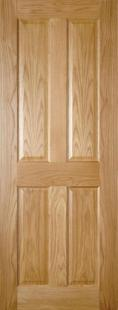 Bury 4 Panel Oak - PREFINISHED:  Image