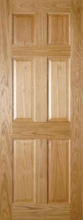 Oxford 6 Panel Oak - PREFINISHED:  Image