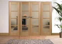 OAK Oslo Pre-finished Interior French Door Range: Internal Room divider with sidelight options Image